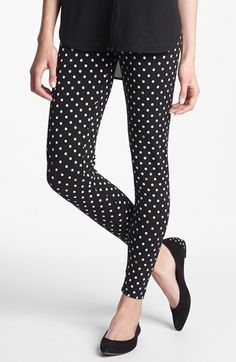 kate spade new york spot leggings available at #Nordstrom