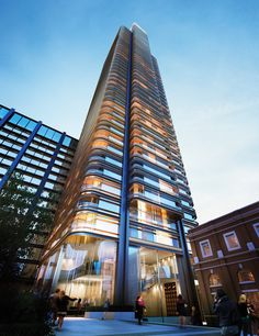 Principal Tower London Uk Foster + Partners Architects Will be a new architectural icon on London's skyline Glass by Ariño Duglass