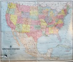 United States Map Vintage Map Download Antique Map History - Roll up map of us