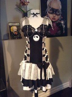 021ceedb52c deadmoongrrrl jack skellington costume dress on Etsy