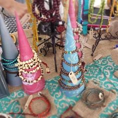 Also check out the new DIY Hemp Jewelry Display Cones. (The MINI tags in the photos are available here: BLANK TAGS or with CUSTOM PRINTING. The blank tags are p