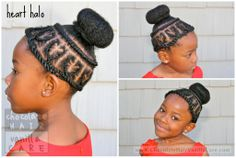 Valentine's Day Halo of Hearts Hairstyle Tutorial #NaturalHair | Chocolate Hair / Vanilla Care