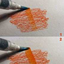 See how easy it is to turn watercolor pencil into paint with a waterbrush in this illustrated by-step tutorial on how to use a waterbrush.