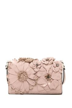 Valentino Flower Mini Wallet with Strap.