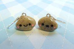 Kawaii Polymer Clay Pet Rock Earrings Cute via Etsy