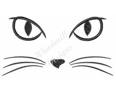 Cat face - machine embroidery design - This is a machine embroidery design digital pattern / file to be used with your embroidery machine. Best Embroidery Machine, Machine Embroidery Designs, Hand Embroidery, Cat Drawing, Cat Face, Cat Tattoo, Embroidery Techniques, Digital Pattern, Easy Drawings
