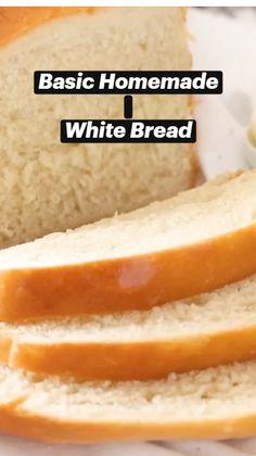 Sandwich Bread Recipes, Best Bread Recipe, Bread Machine Recipes, White Bread Recipes, Easy White Bread Recipe, Homemade Sandwich Bread, Milk Bread Recipe, Bread Dough Recipe, Easy Bread Recipes