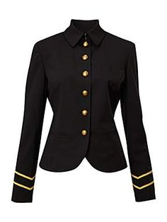 Ainee military style wool jacket