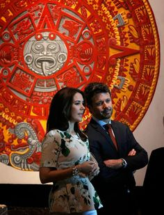 Crown Princess Mary and Crown Prince Frederik visit the National Museum of Anthropology in Mexico, 11 November 2013.