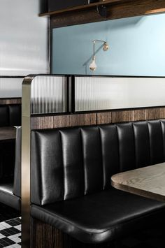 things are happening at Biggie Smalls Windsor, as the notorious hip hop-inspired Collingwood diner heads south. Architecture Restaurant, Restaurant Interior Design, Commercial Interior Design, Cafe Interior, Living Room Interior, Interior Architecture, Brewery Interior, Japanese Restaurant Design, Classic Interior