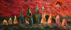 Solstice Stones  Original Felt Wall Hanging by WildernessFelt, £145.00