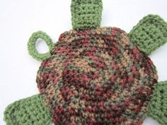 Turtle Pot Holder Hot Pad Crochet Trivet by by crochetedbycharlene