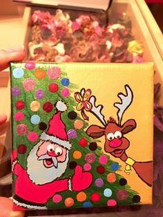 Christmas decoration paint, size 10x10