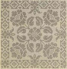 Tina's handicraft : 12 patterns for cross stitch embroidery Diy Crochet Doilies, Crochet Tablecloth, Crochet Motif, Crochet Stitches, Crochet Patterns, Cross Stitching, Cross Stitch Embroidery, Cross Stitch Patterns, Filet Crochet Charts