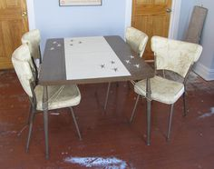 1950's formica coffee tables | Atomic 1950s formica dinette / kitc hen table with four chairs ...