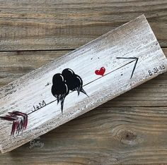 Wood Arrow Wall Art Valentine's Day Gift Farm Wood Sign You and Me Sign Signs Reclaimed Wood Art Gift Engagement Gift Idea Love Bird Painting Wood Love Art Wood Wall Decor Wedding Anniversary Gift for Couple by Linda Fehlen Wood Gallery You and me – birds Arrow Painting, Love Birds Painting, Painting On Wood, Rustic Painting, Art On Wood, Wood Paintings, Painting Quotes, Painting On Pallets, Love Birds Drawing