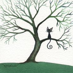 Marquette Stray Cat Watercolor at ArtistRising.com