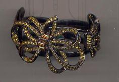 OSCAR DE LA RENTA STUNNING  AMBER CRYSTAL RIBBON  BRACELET - http://elegant.designerjewelrygalleria.com/oscar-de-la-renta/oscar-de-la-renta-stunning-amber-crystal-ribbon-bracelet/