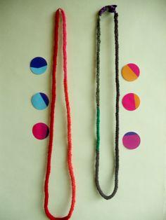 knitted necklace/bracelet in earthy colours by MerakibyStevie, $18.00