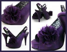 Zapatos de Novia Satin Morado.  Ciudadrosa@gmail.com