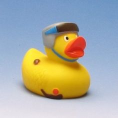 rubber duck ice hockey player