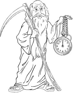 baby new year coloring pages free | 14 Best Father Time images | Father time, Time constant ...