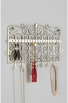 Scrollwork Gate Jewelry Stand- urban Outfitters - space saver