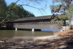 Photographs of Wooden Covered Bridges in Georgia Wood Truss, Bridge Construction, Dekalb County, Love Cover, Georgia On My Mind, Stone Mountain, Over The River, Covered Bridges, Windmills