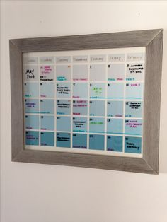 Diy dry erase calendar get a cheap frame from the thrift store dyi dry erase calendar solutioingenieria Image collections