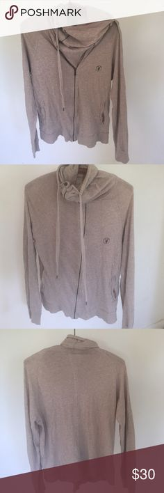 Mens all saints Mens all saints light weight pull over w zipper detail. In used condition. No pilling All Saints Shirts Tees - Long Sleeve