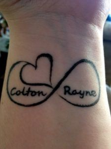 Arm Name Tattoo For Men