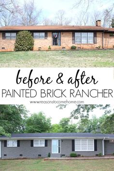 45 Ideas House Exterior Makeover Before And After Brick Ranch For 2019 Exterior Siding Colors, House Paint Exterior, Exterior Design, Exterior Shutters, Ranch Exterior, Diy Exterior, Bungalow Exterior, Cafe Exterior, Black Shutters