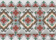 Beaded Cross Stitch, Cross Stitch Borders, Cross Stitch Flowers, Cross Stitch Patterns, Needlepoint Patterns, Embroidery Patterns, Hand Embroidery, Fendi Scarf, Palestinian Embroidery