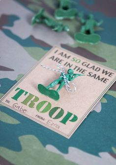 Army valentines + free printable valentines for boys
