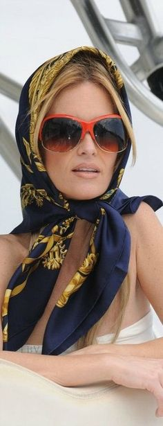 The Style of Travel ♥✤ Scarf Sunnies Style