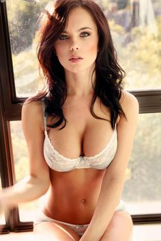 Emma Glover's perfect rack in bra and panties.