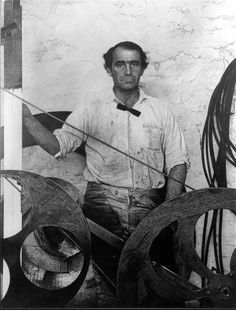 laflaneuse8: Jean Tinguely (1925 – 1991), Swiss painter and sculptor best known for his sculptural machines or kinetic art.