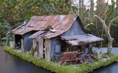 Diorama Abandoned Barn Model Train Building
