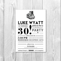 Birthday Party Invitation  30th Birthday / by SarahNelsonStudios