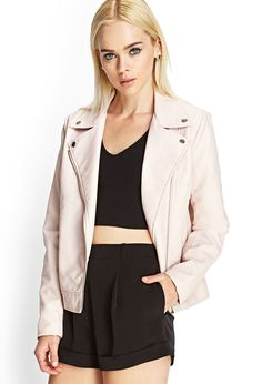 Faux Leather Moto Jacket   Forever 21 - 2000102523 #collegebound