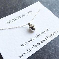 Acorn Necklace Acorn Pendant Necklace Boho by Instyleglamour