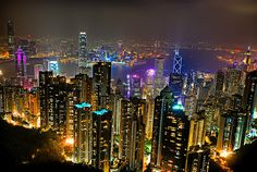 Another Night View of Hong Kong from Victoria Peak. What a beautiful sight.