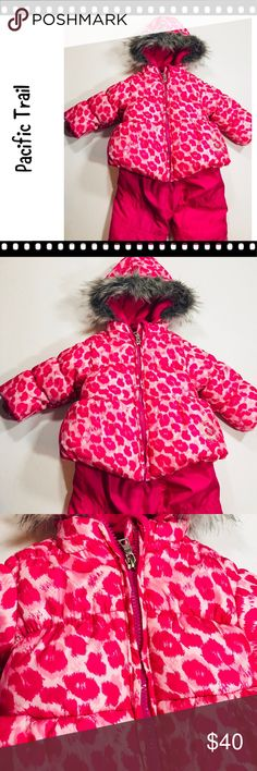 Pacific Trail 12 month Pink camo snowsuit Absolutely adorable and warm snowsuit by Pacific Trail. Has the coat and overalls with straps. Comes from a smoke-free home. Please see my other items. Bundle & save! Pacific Trail Jackets & Coats