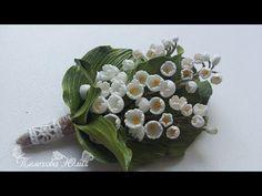 "МК ""Ландыш из фоамирана"" - YouTube Organza Flowers, Crepe Paper Flowers, Kanzashi Flowers, Felt Flowers, Crochet Flowers, Fabric Flowers, Flower Video, Leather Flowers, Heartfelt Creations"