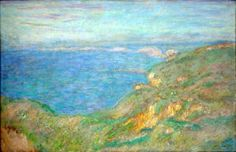 "Cliffs near Dieppe - Claude Monet, 1897 Jules-Chéret Fine Arts Museum, Nice France.The seized paintings were Monet's Cliffs Near Dieppe, Alfred Sisley's Lane of Poplars at Moret-sur-Loing"" and Jan Brueghel the Elder's ""Allegory of Water"" and ""Allegory of Earth,"" Both Monet and Sisley painting were previously stolen in 1998 from the same museum but were recovered a few days later on a boat in a nearby town. Sisley was stolen in 1978 and recovered several days later in a Marseille sewer."