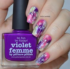 piCture pOlish = Sveta Sanders 'Violet Femme, Sorbet + Sizzle' LOVE thank you :) www.picturepolish.com.au