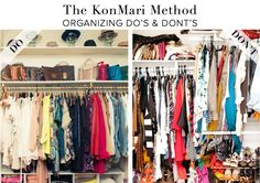 In a nutshell. The Kon Mari Method Do's & Dont's - The Life-Changing Japanese art of Tidying Up organize marie kondo Organization Station, Home Organisation, Closet Organization, Organization Ideas, Konmari Methode, Organize Your Life, Tidy Up, Home Hacks, Decluttering