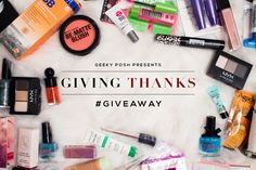 I just entered Geeky Posh's Giving Thanks Beauty #GiveAway! http://www.geekyposh.com/the-giving-thanks-beauty-giveaway