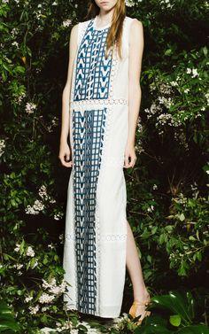 Embroidered Cotton Voile Maxi Dress by Sea for Preorder on Moda Operandi