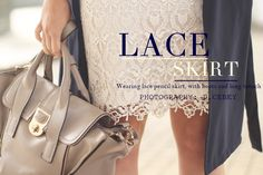 Lace skirt with long trench in www.myblueberrynightsblog.com